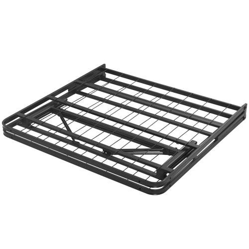 Horizon Twin Stainless Steel Bed Frame in Brown
