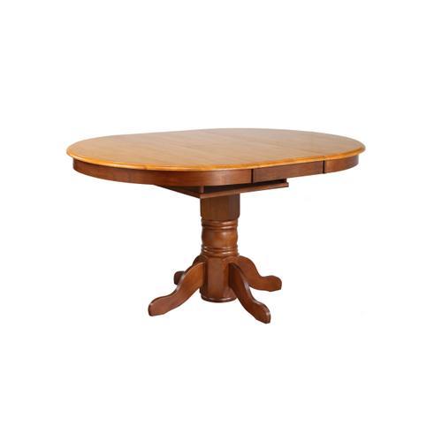 Pedestal Butterfly Leaf Pub Table Set w/Swivel Barstools (5 Piece)