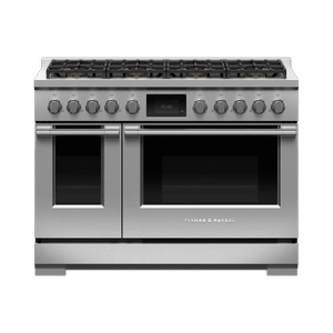 "Fisher & PaykelDual Fuel Range, 48"", 8 Burners, Self-cleaning, LPG"