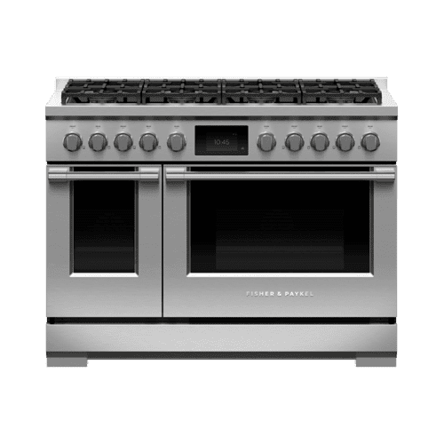 "Dual Fuel Range, 48"", 8 Burners, Self-cleaning, LPG"