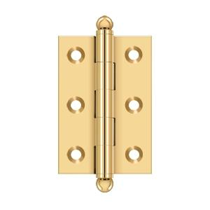 "2-1/2""x 1-11/16"" Hinge, w/ Ball Tips - PVD Polished Brass Product Image"