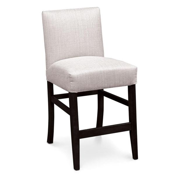 """See Details - Claire Stationary Barstool, 30"""" Seat Height / Fabric Cushion Seat"""