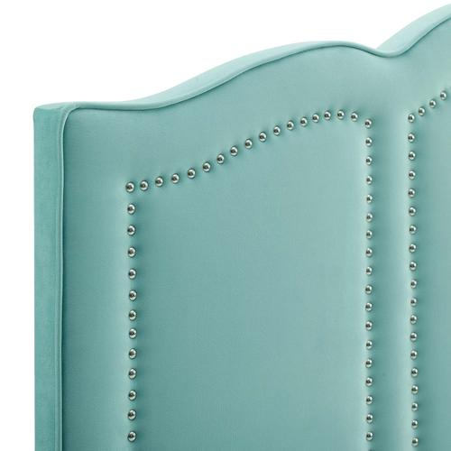 Cecilia Twin Performance Velvet Headboard in Mint