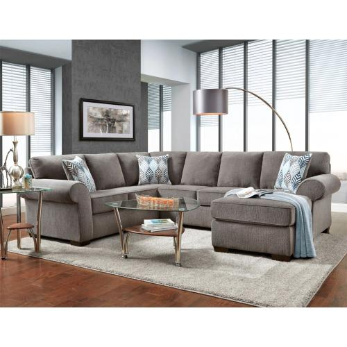 Affordable Furniture Manufacturing - Charisma Smoke 3-Piece Sectional
