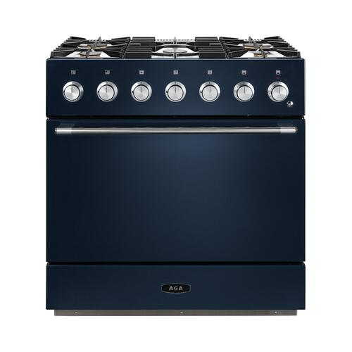 AGA Mercury 36 Dual Fuel Midnight Sky with Chrome trim