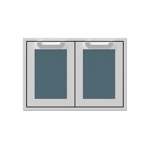 """Hestan - 30"""" Hestan Outdoor Double Access Doors - AGAD Series - Pacific-fog"""