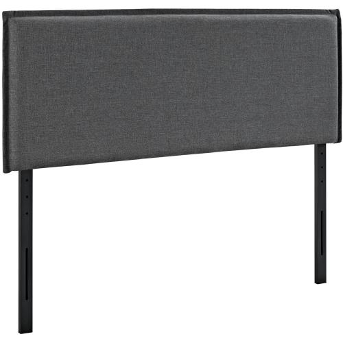 Camille Full Upholstered Fabric Headboard in Gray