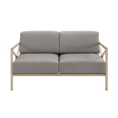 Gray X Design Metal Loveseat (Component 1 of 3)