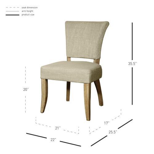 Austin Fabric Dining Chair, Rice