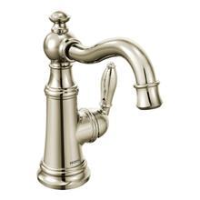 Weymouth polished nickel one-handle bathroom faucet