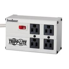 Isobar 4-Outlet Surge Protector, 6 ft. Cord with Right-Angle Plug, 3330 Joules, Metal Housing