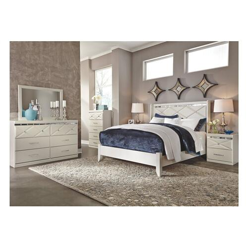 Dreamur Two Drawer Night Stand Champagne