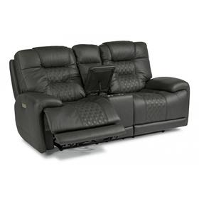 Royce Power Reclining Loveseat with Console & Power Headrests