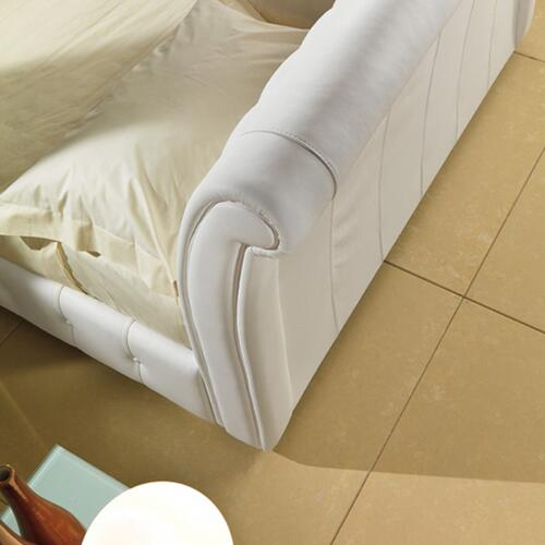 Modrest 1106 Modern White Bonded Leather Bed