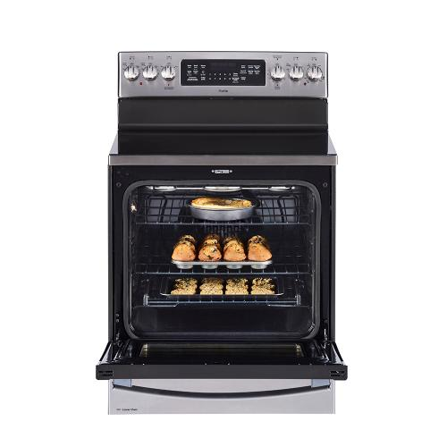 """GE Profile™ 30"""" Free Standing Electric True Convection Range with Baking Drawer Stainless Steel - PCB987SMSS"""