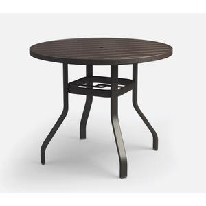 """42"""" Round Balcony Table (with Hole) Ht: 34"""" 37XX Universal Aluminum Base (Model # Includes Both Top & Base)"""