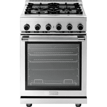 """See Details - Range NEXT 24"""" Panorama Stainless steel 4 gas, gas oven"""
