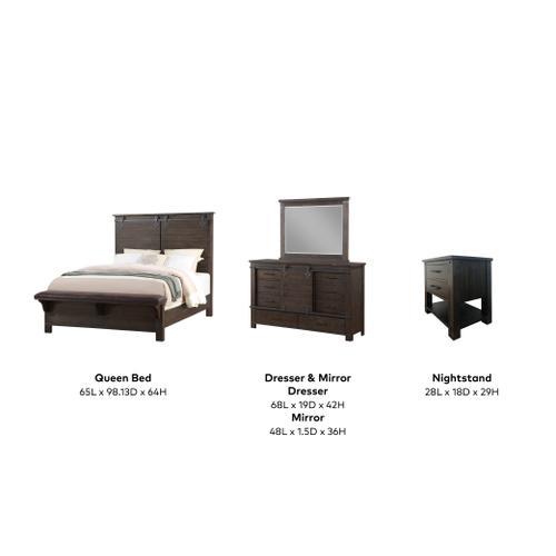 Newton 4 Piece Queen Bedroom Set, Cocoa Brown 2623-queen-4pc-ns-k