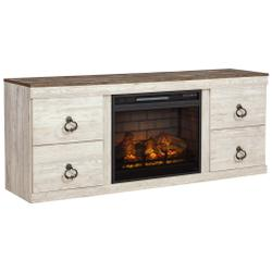 """Willowton 63"""" TV Stand With Electric Fireplace"""