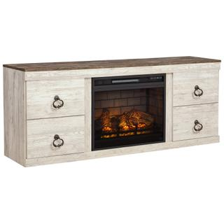 """See Details - Willowton 63"""" TV Stand With Electric Fireplace"""
