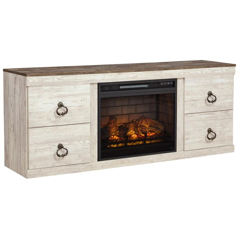 """View Product - Willowton 63"""" TV Stand With Electric Fireplace"""