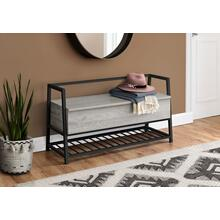 "BENCH - 42""L / GREY STORAGE / BLACK METAL"