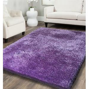 Shaggy Viscose Solid S.V.S. - Purple / 5' x 7'