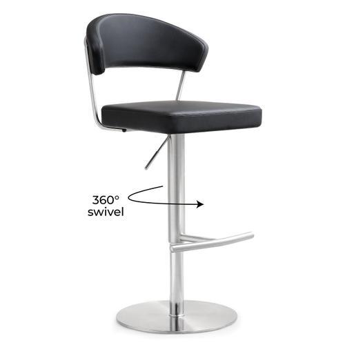 Tov Furniture - Cosmo Black Steel Adjustable Barstool