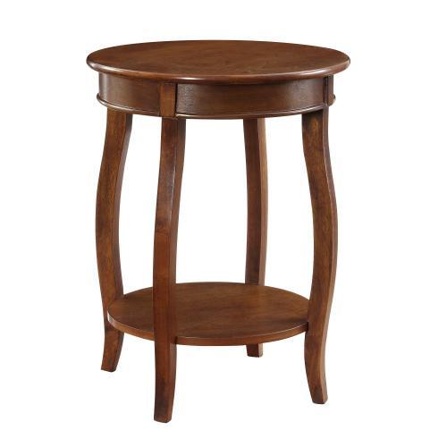 Round Lower Shelf Table, Dark Hazelnut