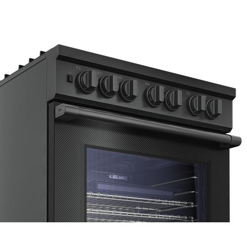"""30"""" Carbon Fiber Pro-Style Gas Range"""