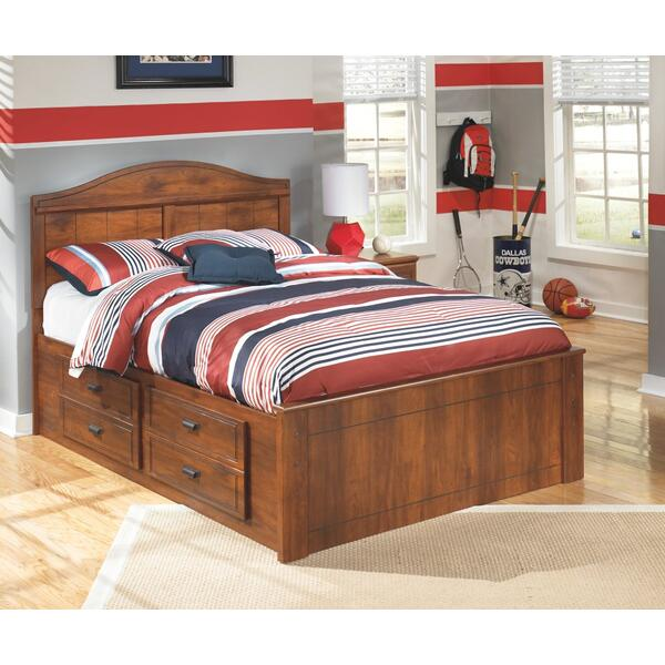 Barchan Full Panel Bed With 4 Storage Drawers