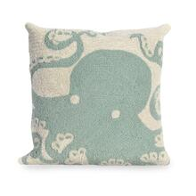 View Product - Liora Manne Frontporch Octopus Indoor/Outdoor Pillow Aqua