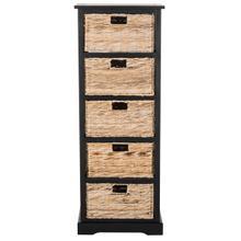 See Details - Vedette 5 Wicker Basket Storage Tower - Distressed Black