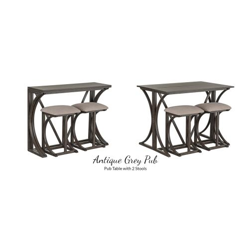 American Wholesale Furniture - Pub Table with 2 Stools