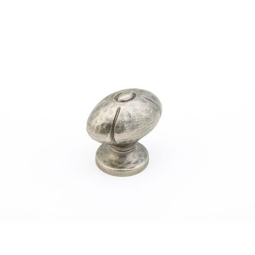 "Siena, Small Oval Knob, 1-1/4"" diameter, Vibra Nickel finish"