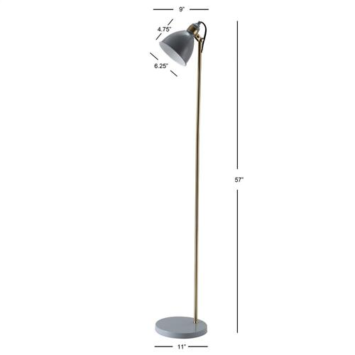Greyson Floor Lamp - Brass Gold / Grey