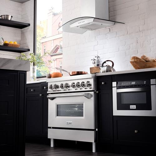 "ZLINE 36"" Professional Stainless Steel 4.6 cu.ft. 6 Gas Burner/Electric Oven Range (RA36)"