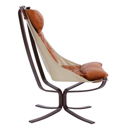 Maxton KD PU Accent Chair, Moorland Caramel