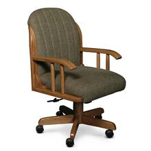 Kelsey Arm Desk Chair, Leather Cushion Seat