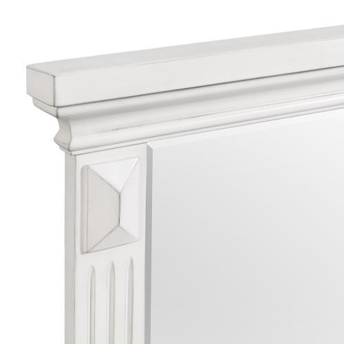 Calloway 7-Drawer Dresser w/ Mirror Set in White