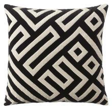 See Details - Best Seller Maze Pillow, BLACK, 22X22