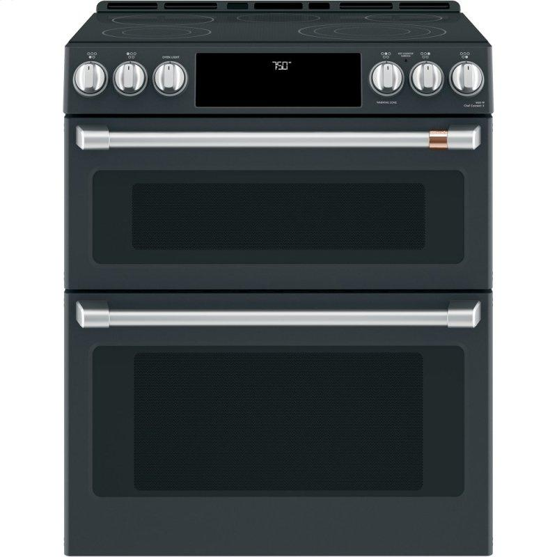 """30"""" Smart Slide-In, Front-Control, Radiant and Convection Double-Oven Range"""