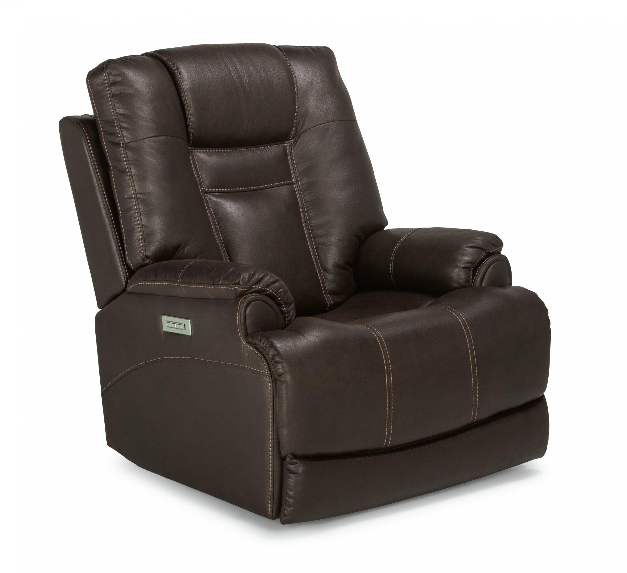 FlexsteelMarley Power Recliner With Power Headrest & Lumbar