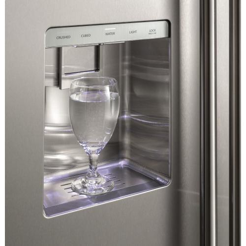 "Monogram 36"" Smart Built-In Side-by-Side Refrigerator with Dispenser"
