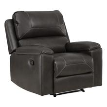 See Details - Santiago Recliner With Charcoal Faux Leather