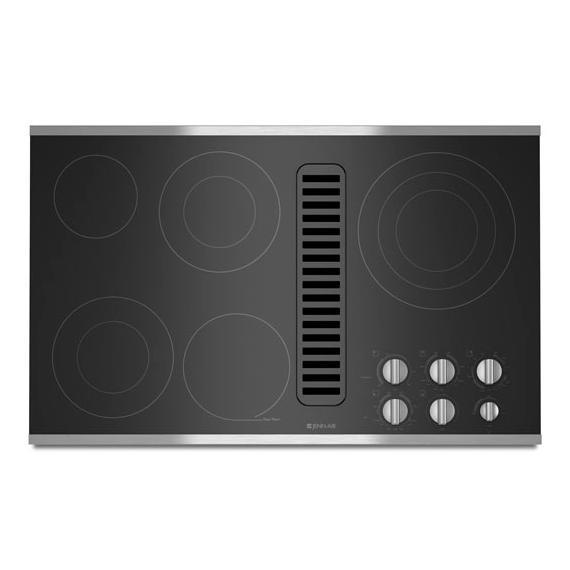 "JennAir - Jenn-Air® Electric Radiant Downdraft Cooktop, 36"" - Stainless Steel"