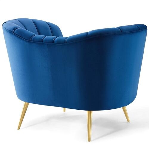 Opportunity Performance Velvet Armchair in Navy