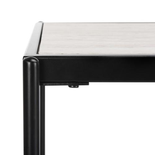 Safavieh - Petra 3 Tier Console Table - Beige / Black