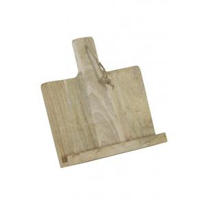 Tablet holder 26x26x6 cm NELLI wood natural