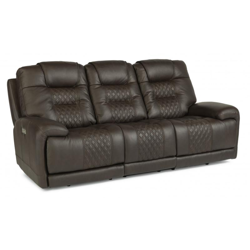 Royce Power Reclining Sofa with Power Headrests